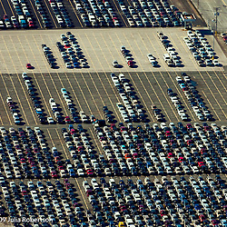 aerial view of cars at the Port of Baltimore