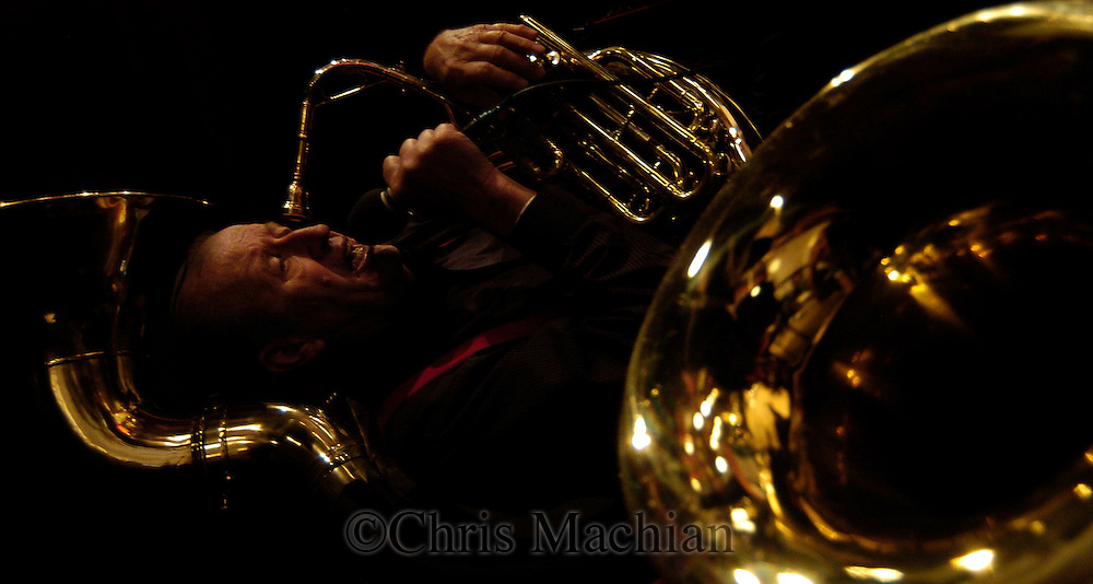 elmer nemec plays with the dave salmon's Polka band.(photo by Chris Machian/Prarie Pixel Group)