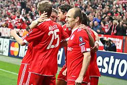 21-04-2010 VOETBAL: BAYERN MUNCHEN - OLYMPIQUE LYON: MUNCHEN<br /> Halve finale Champions League / Arjen Robben scoort de 1-0<br /> ©2010-FRH-nph / Straubmeier