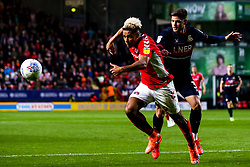 Lyle Taylor of Charlton Athletic takes on Danny Andrew of Doncaster Rovers - Mandatory by-line: Robbie Stephenson/JMP - 17/05/2019 - FOOTBALL - The Valley - Charlton, London, England - Charlton Athletic v Doncaster Rovers - Sky Bet League One Play-off Semi-Final 2nd Leg