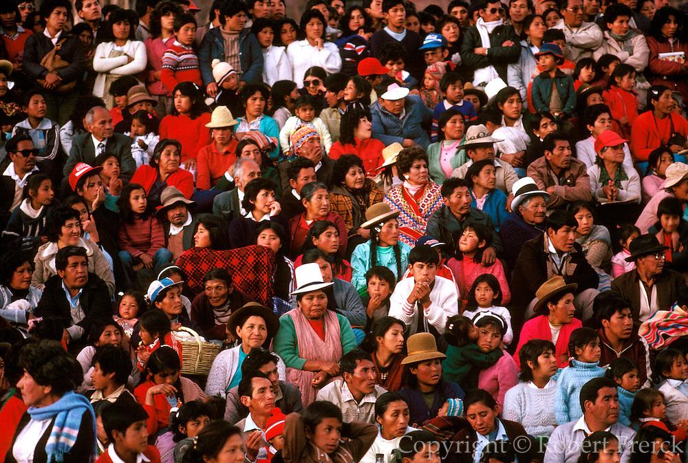 PERU, CUZCO, FESTIVALS Corpus Christi in Plaza de Armas