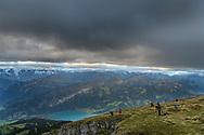Swiss Alps, Niederhorn, Interlaken, Berne, Switzerland