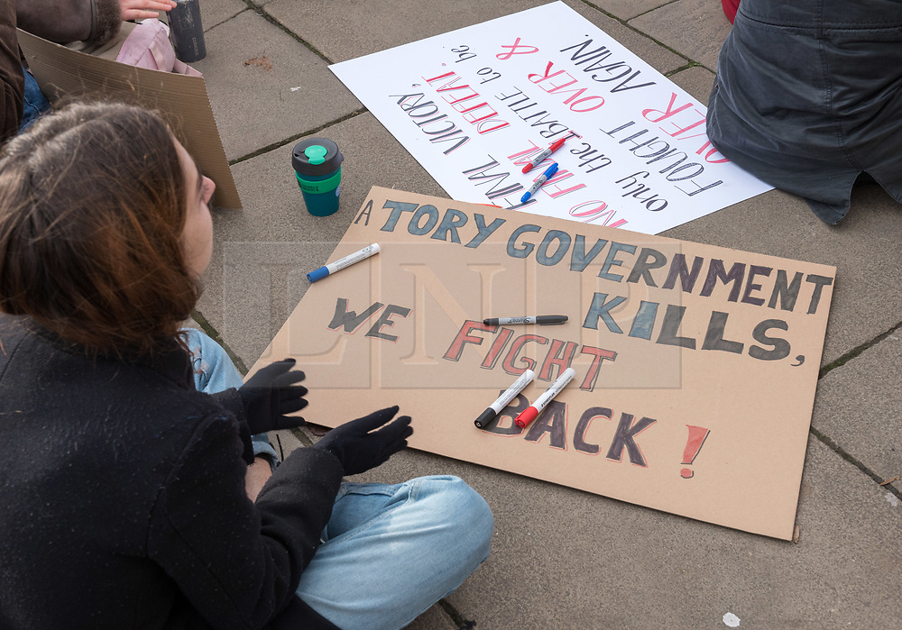 © Licensed to London News Pictures. 13/12/2019. Bristol, UK. General Election 2019; A protest from College Green in Bristol city centre, held in reaction to the result of the General Election and the Conservatives winning a big majority. The protest was formed by a facebook group, Anti Boris Solidarity Demo // Bristol Against The Tories, and the event is an open invite to any group or individual who wants to stand in solidarity against the racism, antisemitism, islamophobia, homophobia, sexism, transphobia, classism, and other oppressions pushed by the tories. Photo credit: Simon Chapman/LNP.