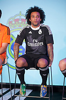Real´s Marcelo during the presentation of the Real Madrid's new Champions League kit at the Santiago Bernabeu stadium in Madrid, Spain. May 26, 2013. (ALTERPHOTOS/Victor Blanco)