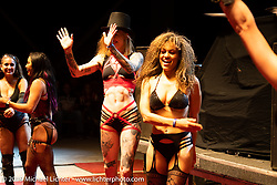 The Purrfect Angelz perform during intermission at the Jackyl Concert at the Full Throttle Saloon during the Sturgis Motorcycle Rally. SD, USA. Thursday, August 12, 2021. Photography ©2021 Michael Lichter.