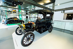 Vintage Model T Ford on display at museum in  Volkswagen's Autostadt in Wolfsburg , Germany