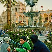 "Plaza de Armas in lovely Arequipa, Peru, the ""White City"". Peru."