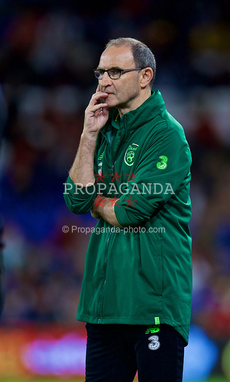CARDIFF, WALES - Thursday, September 6, 2018: Republic of Ireland's head coach Martin O'Neill during the UEFA Nations League Group Stage League B Group 4 match between Wales and Republic of Ireland at the Cardiff City Stadium. (Pic by David Rawcliffe/Propaganda)