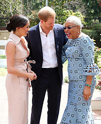 The Duke and Duchess of Sussex meet Graca Machel, widow of the late Nelson Mandela, on the last day of their tour in Africa.