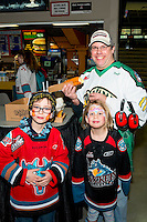 KELOWNA, CANADA - FEBRUARY 13: Fans enjoy family day at the Kelowna Rockets on February 13, 2017 at Prospera Place in Kelowna, British Columbia, Canada.  (Photo by Marissa Baecker/Shoot the Breeze)  *** Local Caption ***