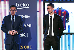July 13, 2018 - Barcelona, Catalonia, Spain - Josep Maria Bartomeu, president of FC Barcelona, during the presentation of Clement Lenglet as a new player of FC Barcelona, on 13th July, 2018, in Barcelona, Spain. (Credit Image: © Joan Valls/NurPhoto via ZUMA Press)