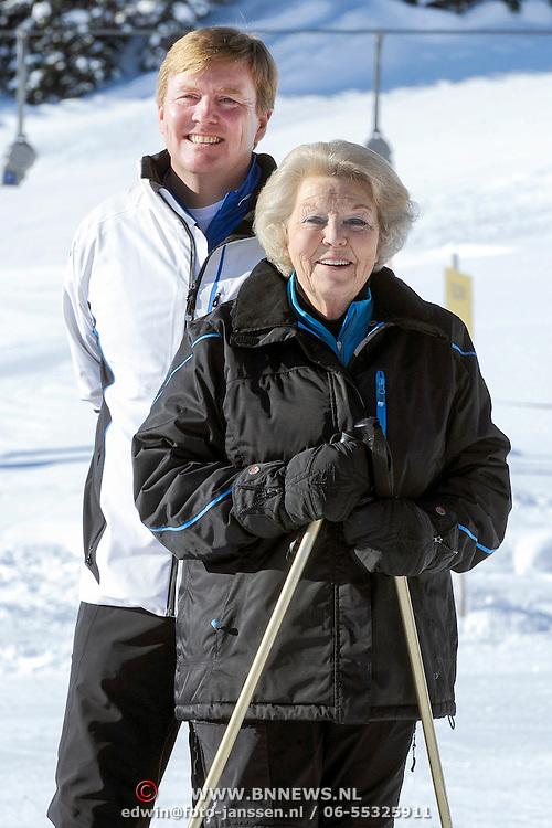 Fotosessie met de koninklijke familie in Lech /// Photoshoot with the Dutch royal family in Lech ...Op de foto / On the photo:  Prins Willem Alexander met Koningin Beatrix /////  Crown Prince Willem Alexander with Queen Beatrix