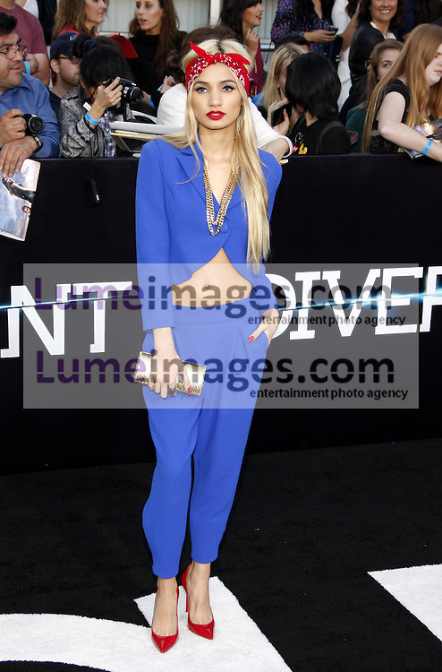 """Pia Mia at the Los Angeles premiere of """"Divergent"""" held at the Regency Bruin Theatre in Westwood, USA on March 18, 2014."""