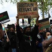 Ten thousands march for Palestine Stop Arming Israel - Stop Bombing Gaza London to Hype Parl on 22nd May 2021.
