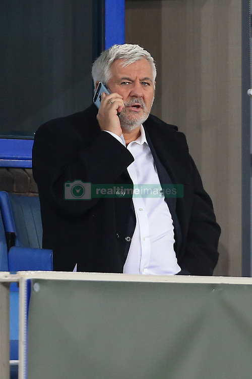 28th September 2017 - UEFA Europa League - Group E - Everton v Apollon Limassol - Football agent Paul Stretford, responsible for Wayne Rooney of Everton, talks on his mobile phone - Photo: Simon Stacpoole / Offside.