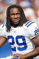 NASHVILLE, TN - OCTOBER 30:  Joseph Addai #29 of the Indianapolis Colts rides the bike and looks in the stands during a game against the Tennessee Titans at the LP Field on October 30, 2011 in Nashville, Tennessee.  The Titans defeated the Colts 27 to 10.  (Photo by Wesley Hitt/Getty Images) *** Local Caption *** Joseph Addai