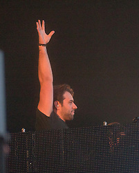 Swedish House Mafia headline the Radio 1/NME stage on Sunday at T in the Park 2012, held at Balado, in Fife, Scotland.