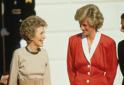 Prince Charles, Prince of Wales, and Diana, Princess of Wales, visit Washington DC. First Lady Nancy Reagan, Outside the White House. EXPA Pictures © 2016, PhotoCredit: EXPA/ Photoshot/ John Shelley Collection<br /> <br /> *****ATTENTION - for AUT, SLO, CRO, SRB, BIH, MAZ, SUI only*****