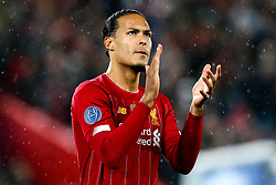 Virgil van Dijk of Liverpool - Mandatory by-line: Robbie Stephenson/JMP - 11/03/2020 - FOOTBALL - Anfield - Liverpool, England - Liverpool v Atletico Madrid - UEFA Champions League Round of 16, 2nd Leg