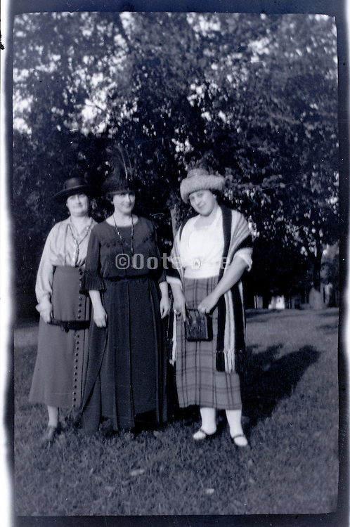 three adult women happy together rural USA 1920s