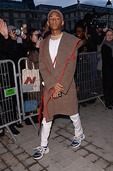 Jaden Smith arriving at the Louis Vuitton show as part of the Paris Fashion Week Womenswear Fall/Winter 2018/2019 in Paris, France on March 6, 2018. Photo by Julien Reynaud/APS-Medias/ABACAPRESS.COM