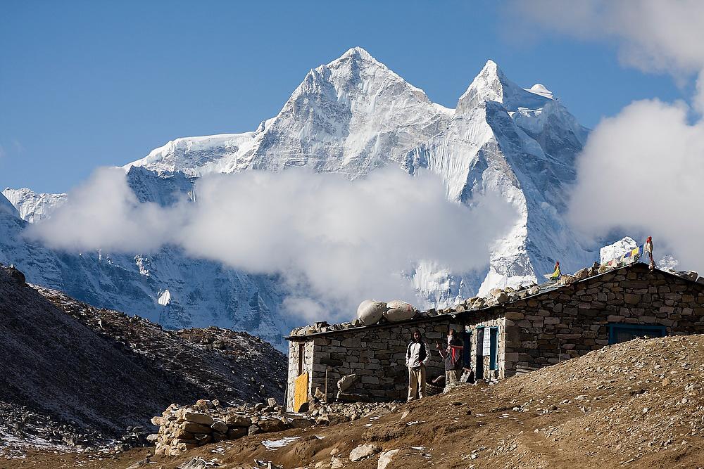 Porter hut in Lobuche, Khumbu (Everest) region, Sagarmatha National Park, Himalaya Mountains, Nepal.