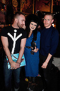 CHRIS SUTTON; PRINCESS JULIA; HYNAM KENDALL, Ponystep - issue 3 launch party, George and Dragon, 2-4 Hackney Road, London, E2.  April 5 2012.