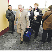 14 January 2007; Clare manager Paidi O Se and selectors Vincent O'Connor and Barry Keating arrive for the game. McGrath Cup Quarter-Final, Clare v UL, Hennessy Park, Miltown Malbay, Co Clare. Picture credit: Ray McManus / SPORTSFILE