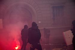 November 5, 2016 - Florence, Italy - Clash in Florence at anti Renzi protest. (Credit Image: © Lorenzo Apra/Pacific Press via ZUMA Wire)