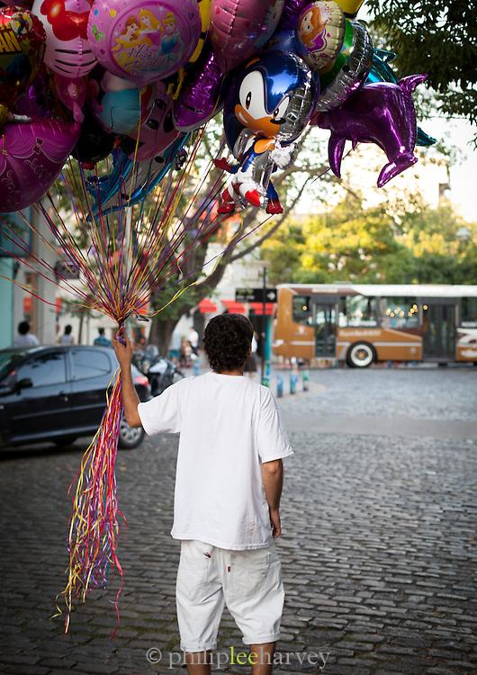 Balloon seller, San Telmo District, Buenos Aires, Argentina, South America