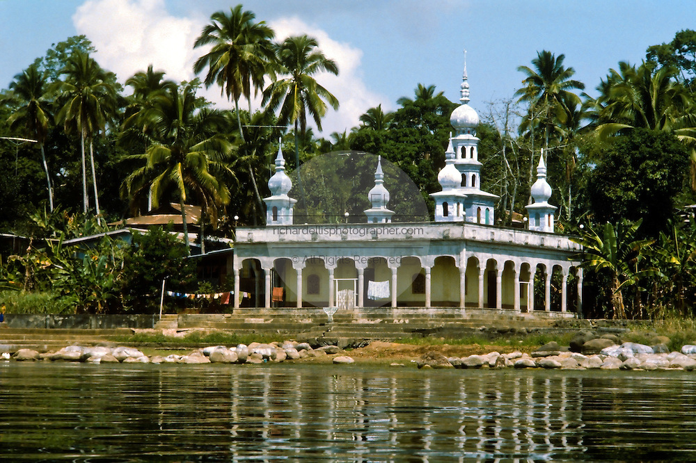 A mosque along the water in Jolo, the capital of the Sulu Islands in the southern Philippines.