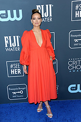 Olivia Wilde at the 25th Annual Critics' Choice Awards held at the Barker Hangar in Santa Monica, USA on January 12, 2020.