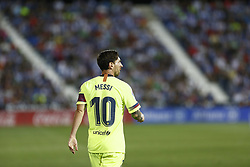 September 26, 2018 - Leganes, Madrid, Spain - Lionel Messi (FC Barcelona) reacts during the La Liga match between CD Leganes and FC Barcelona at Butarque Stadium in Leganes. (Credit Image: © Manu Reino/SOPA Images via ZUMA Wire)