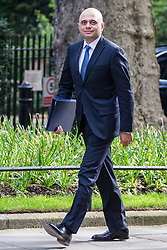 London, UK. 30th April 2019. Sajid Javid MP, Secretary of State for the Home Department, arrives at 10 Downing Street for a Cabinet meeting.