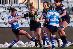 Paige Farries of Worcester Warriors Women smashes through the visitor's defence - Mandatory by-line: Nick Browning/JMP - 09/01/2021 - RUGBY - Sixways Stadium - Worcester, England - Worcester Warriors Women v DMP Durham Sharks - Allianz Premier 15s