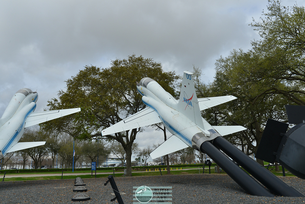 Rockets display and Johnson Space Center in Houston, Texas