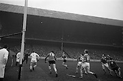 17/03/1965<br /> 03/17/1965<br /> 17 March 1965<br /> Railway Cup Hurling final  Munster v Leinster at Croke Park, Dublin. L Devaney (centre) Munster full forward and S. Cleere, Leinster right half forward race for the ball.