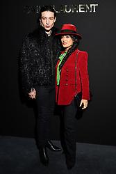 Ezra Miller and Salma Hayek attend the Saint Laurent show as part of the Paris Fashion Week Womenswear Fall/Winter 2019/2020 on February 26, 2019 in Paris, France. Photo by Laurent Zabulon/ABACAPRESS.COM