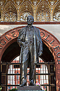 Statue of Henry Flagler at Flagler College in St. Augustine, Florida. The building was originally the Ponce de Leon Hotel.