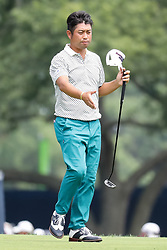 August 9, 2018 - St. Louis, MO, U.S. - ST. LOUIS, MO - AUGUST 09:  Yuta Ikeda (JPN) prepares to shake hands on the 18th green during Round 1 of the PGA Championship August 9, 2018, at Bellerive Country Club in St. Louis, MO.  (Photo by Tim Spyers/Icon Sportswire) (Credit Image: © Tim Spyers/Icon SMI via ZUMA Press)