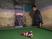 PLaying pool in the Walled city of Lahore.