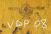 barrel inscribed vdp 08 domaine giraud chateauneuf du pape rhone france