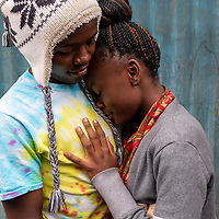 Bahati Kituli is a mentor on the DREAMS project in Nairobi, Kenya. Here he is with his girlfriend Polin.<br /> <br /> DREAMS is an acronym for Determined, Resilient, Empowered, AIDS-free, Mentored, and Safe. The project provides guidance on issues including HIV prevention, contraceptive methods, health, education and social economic intervention.<br /> <br /> Philip is familiar with some of the issues through his own personal experience and provides guidance and support to hundreds of men and women in the slum of Makuru Kwa Njenga.