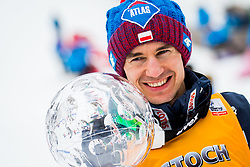 Kamil Stoch of Poland, best overall ski jumper during Flower ceremonies after the Ski Flying Hill Individual Competition at Day 4 of FIS Ski Jumping World Cup Final 2018, on March 25, 2018 in Planica, Ratece, Slovenia. Photo by Ziga Zupan / Sportida