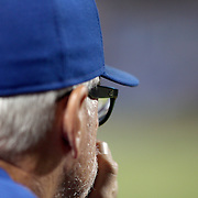 NEW YORK, NEW YORK - June 30: Manager Joe Maddon #70 of the Chicago Cubs watching the game from the dugout during the Chicago Cubs Vs New York Mets regular season MLB game at Citi Field on June 30, 2016 in New York City. (Photo by Tim Clayton/Corbis via Getty Images)
