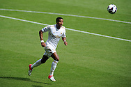 Swansea city's Scott Sinclair in action. Pre-season friendly match, Swansea city v FC Stuttgart at the Liberty Stadium in Swansea, South Wales on Saturday 11th August 2012. pic by Andrew Orchard, Andrew Orchard sports photography,