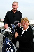 GOES - De Goese Golf. professionals Jan Stevens en Barbara van Strien.