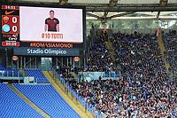 Francesco Totti on display stadium. Half empy stands <br /> Roma 24-04-2016 Stadio Olimpico Football Calcio Serie A 2015/2016 AS Roma - Napoli Foto Andrea Staccioli / Insidefoto