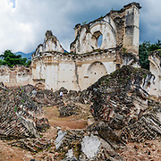 Panorama of the ruins of the Iglesia y Convento de La Recolección in Antigua, Guatemala. The church was destroyed by the earthquake of 1773.