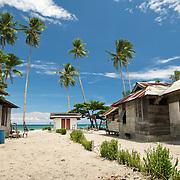 Idyllic west papuan village.